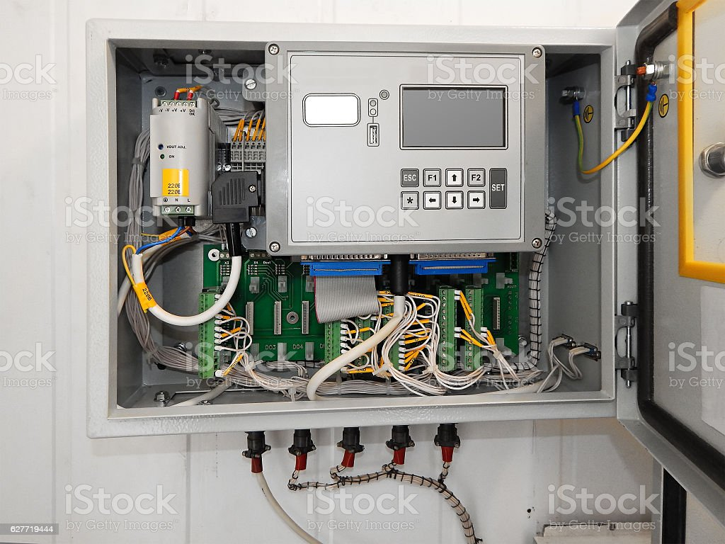 Industrial Controller. stock photo