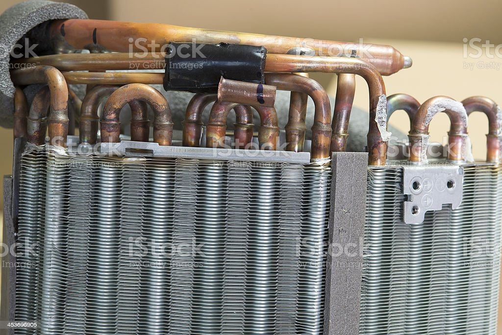 Industrial Cooling Unit Water-to-air Heat Exchanger fragment stock photo