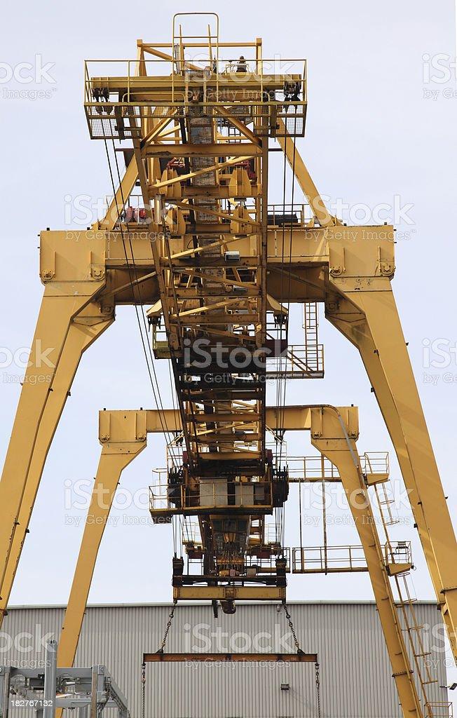 industrial crane in docks royalty-free stock photo