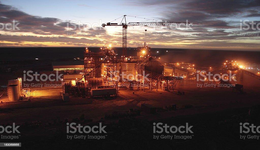 Industrial Dawn stock photo