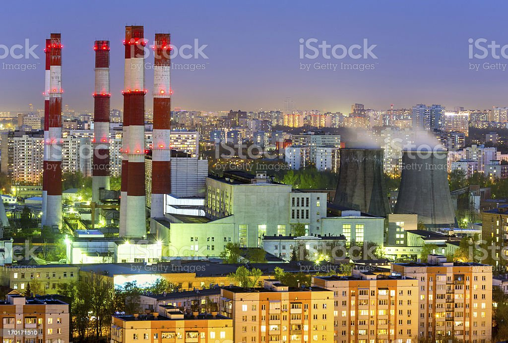 Industrial district in heart of city royalty-free stock photo