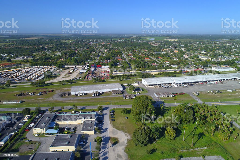 Industrial district stock photo