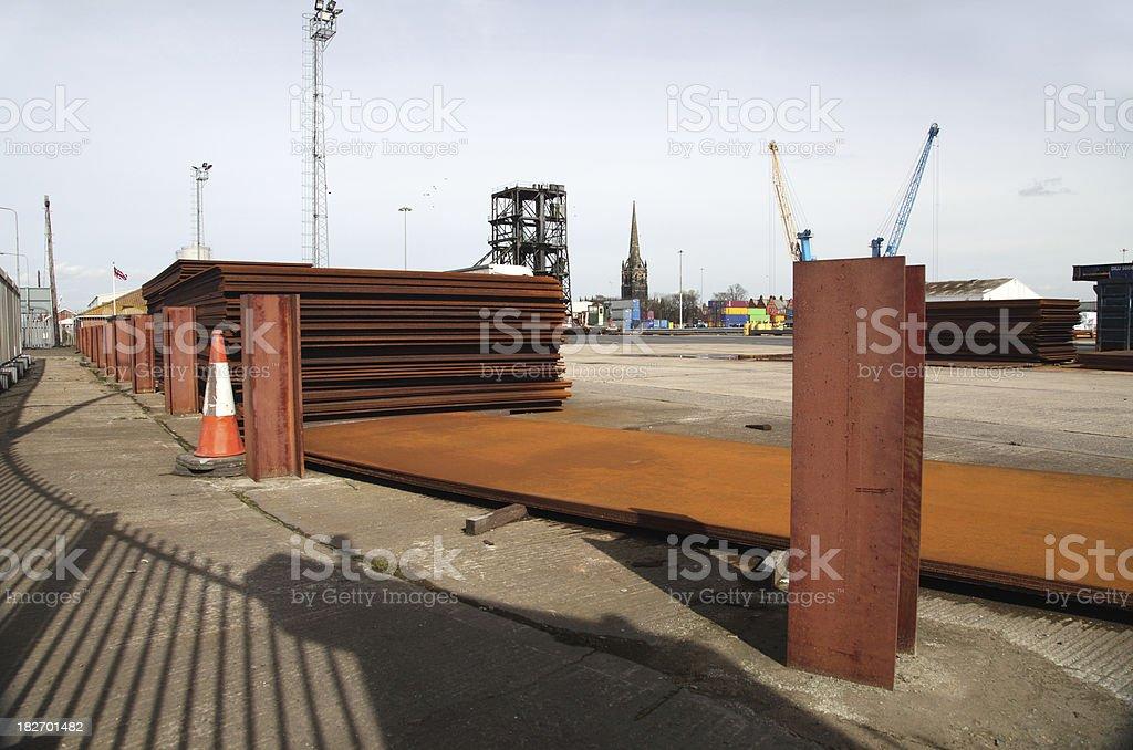 industrial dock scene royalty-free stock photo