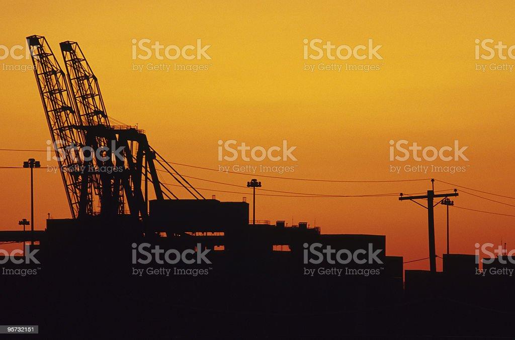 Industrial dockside landscape royalty-free stock photo