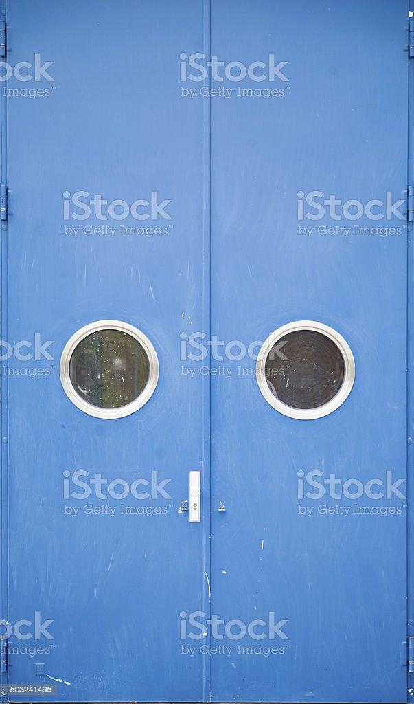 Industrial door stock photo