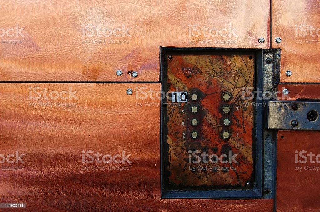 Industrial Doorbell stock photo