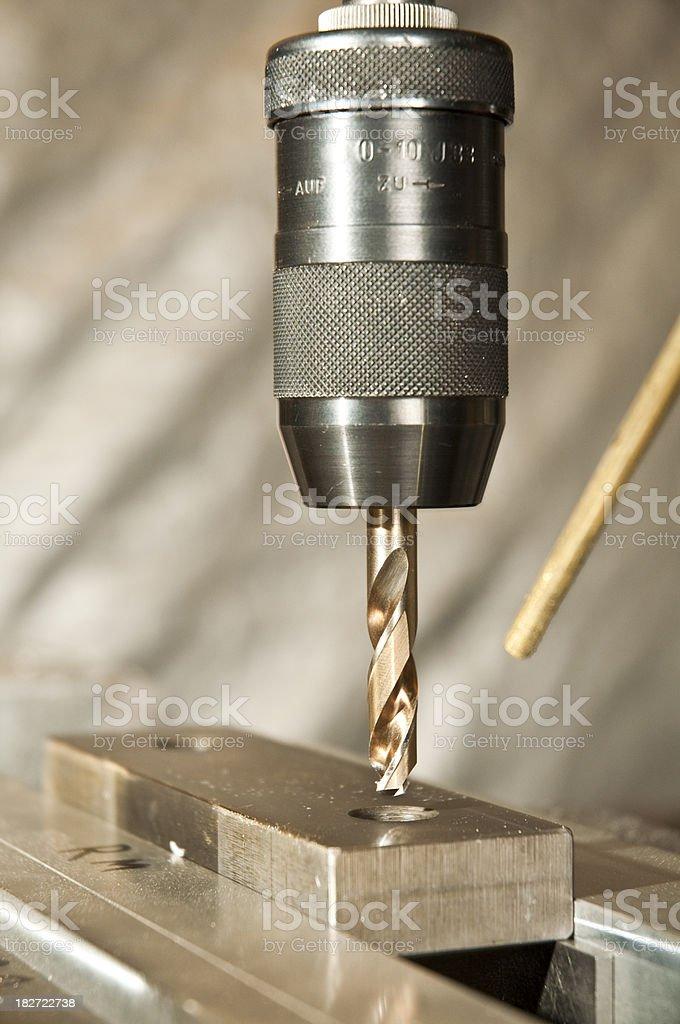 Industrial Drill Press stock photo