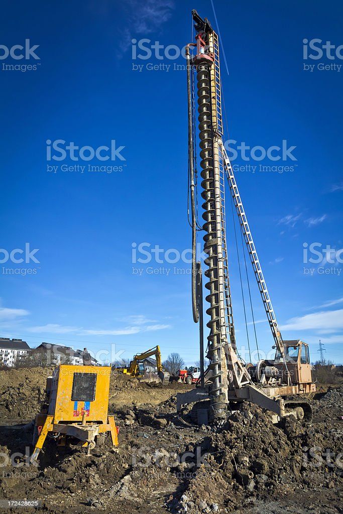 Industrial Drilling Rig royalty-free stock photo