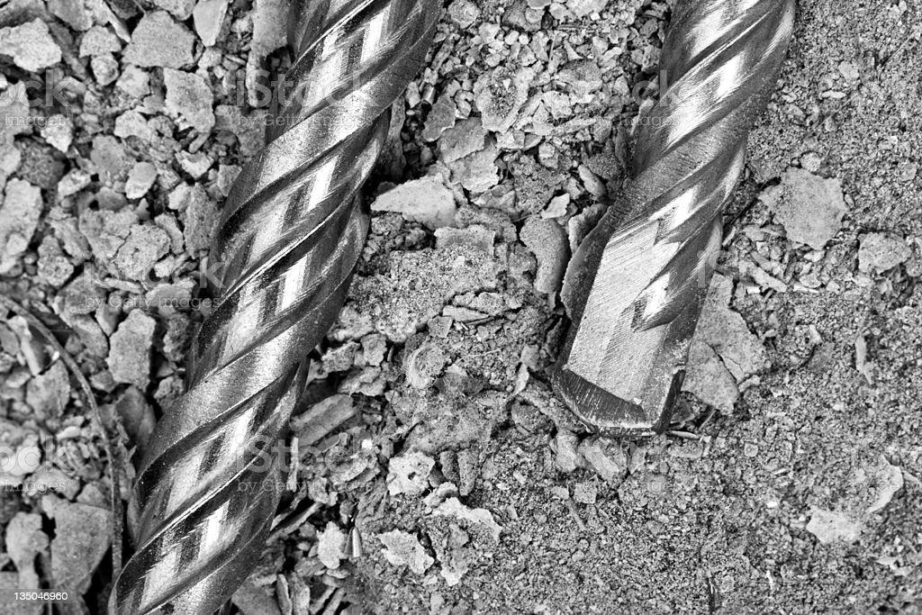 Industrial drills stock photo