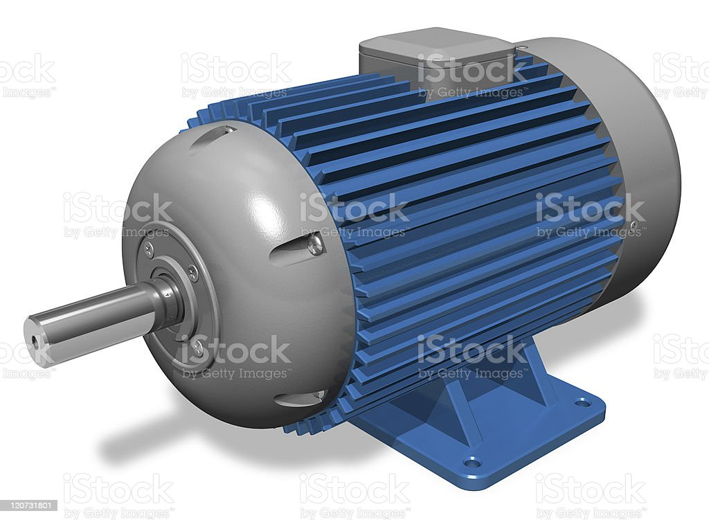 Industrial electric motor royalty-free stock photo