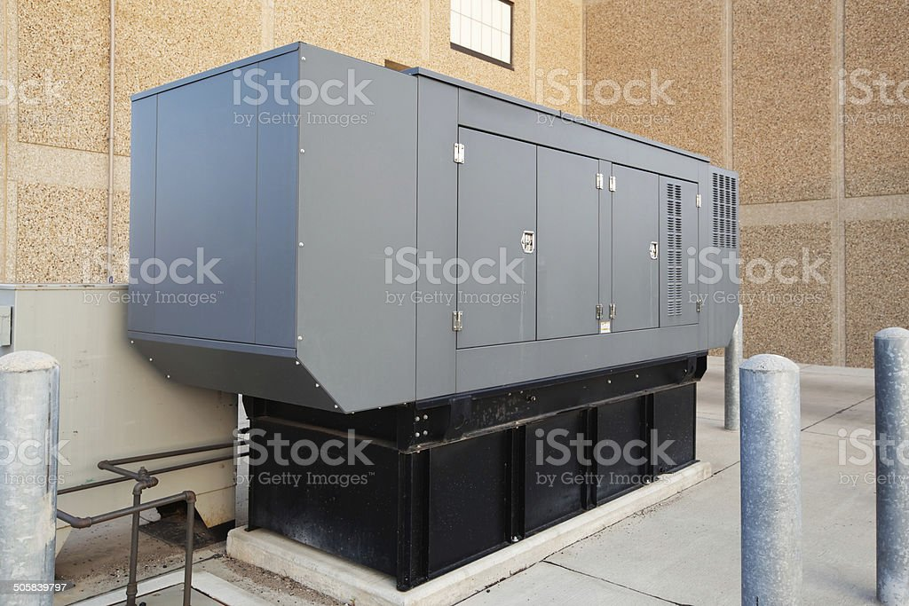 Industrial Emergency Power Standby Generator stock photo