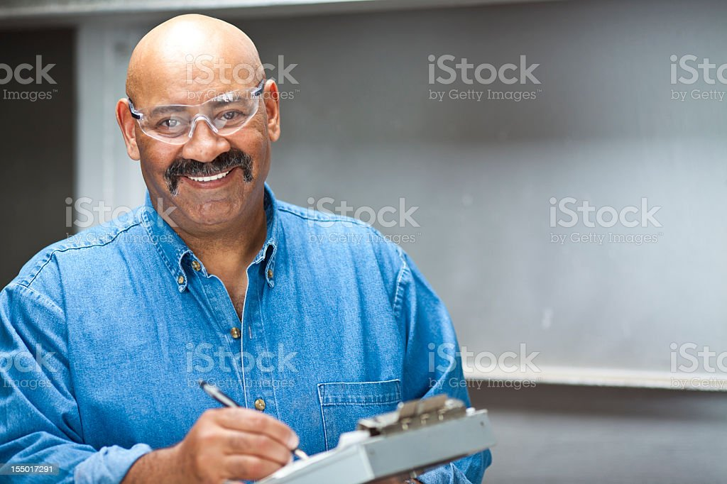 Industrial employee royalty-free stock photo