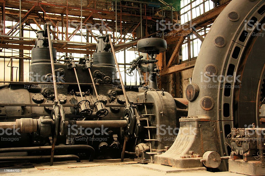 industrial engine stock photo