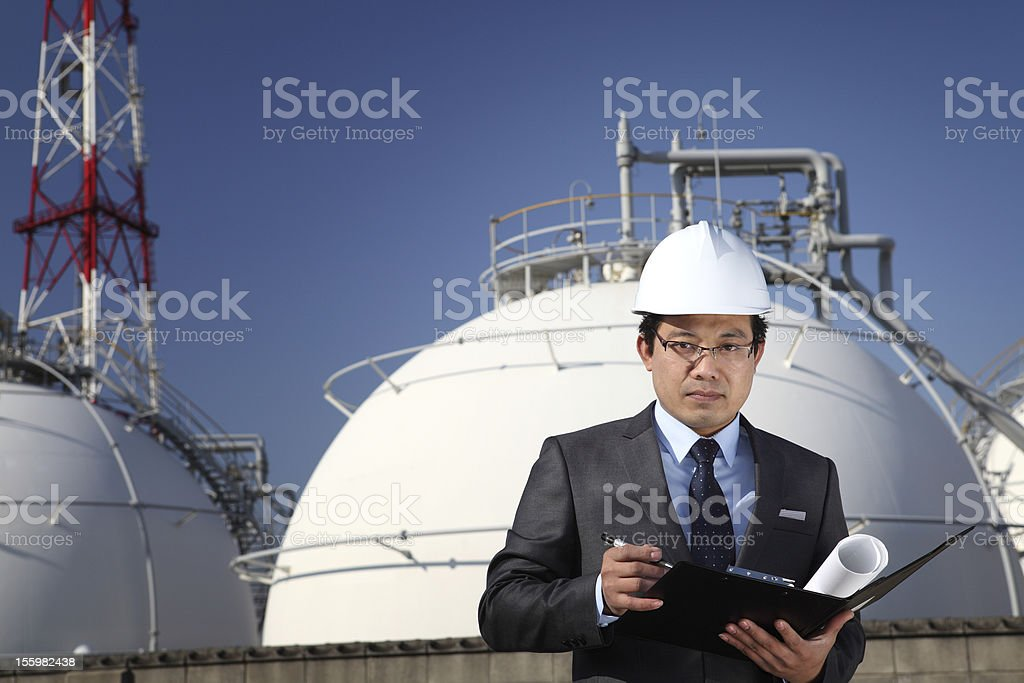 industrial Ingenieur Chemiefabrik Lizenzfreies stock-foto