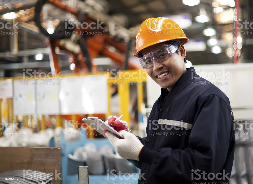 Industrial engineer stock photo