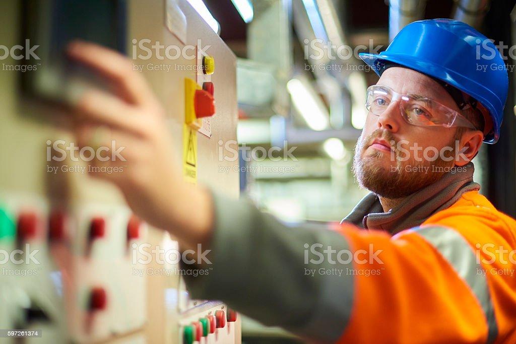 Industrial engineer stock photo