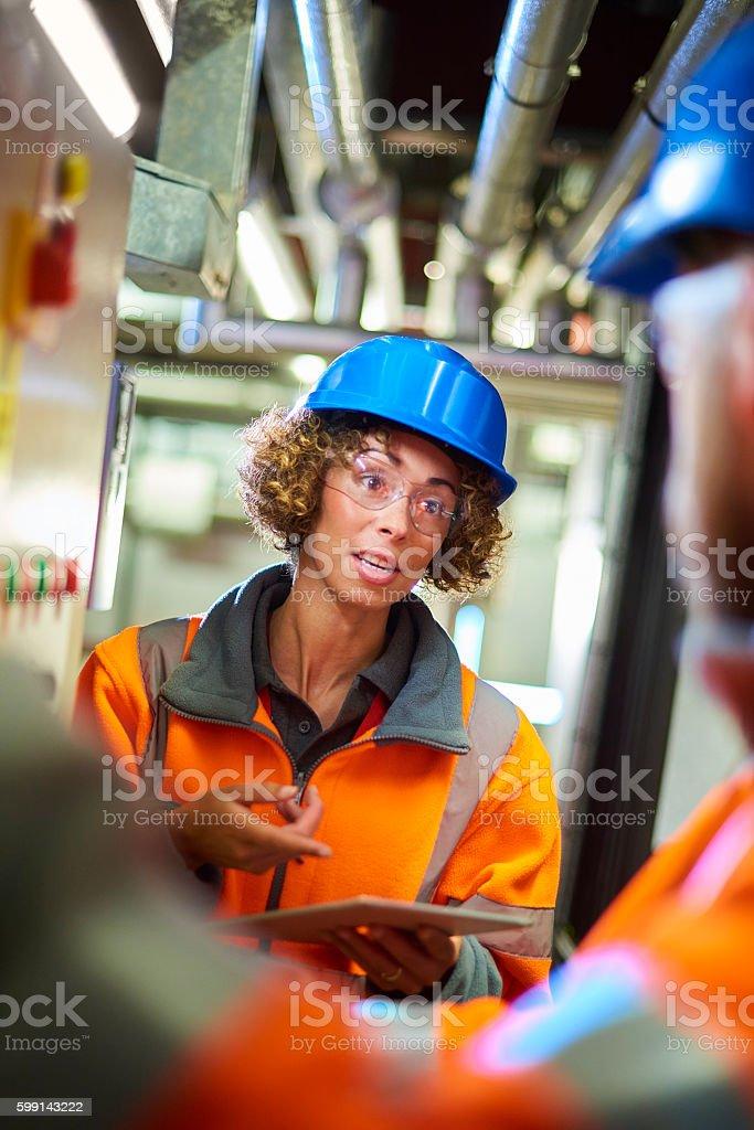 Industrial engineers stock photo
