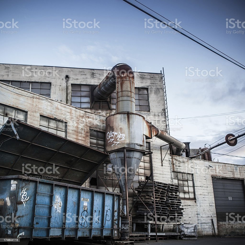 Industrial Equipment and Buildings royalty-free stock photo