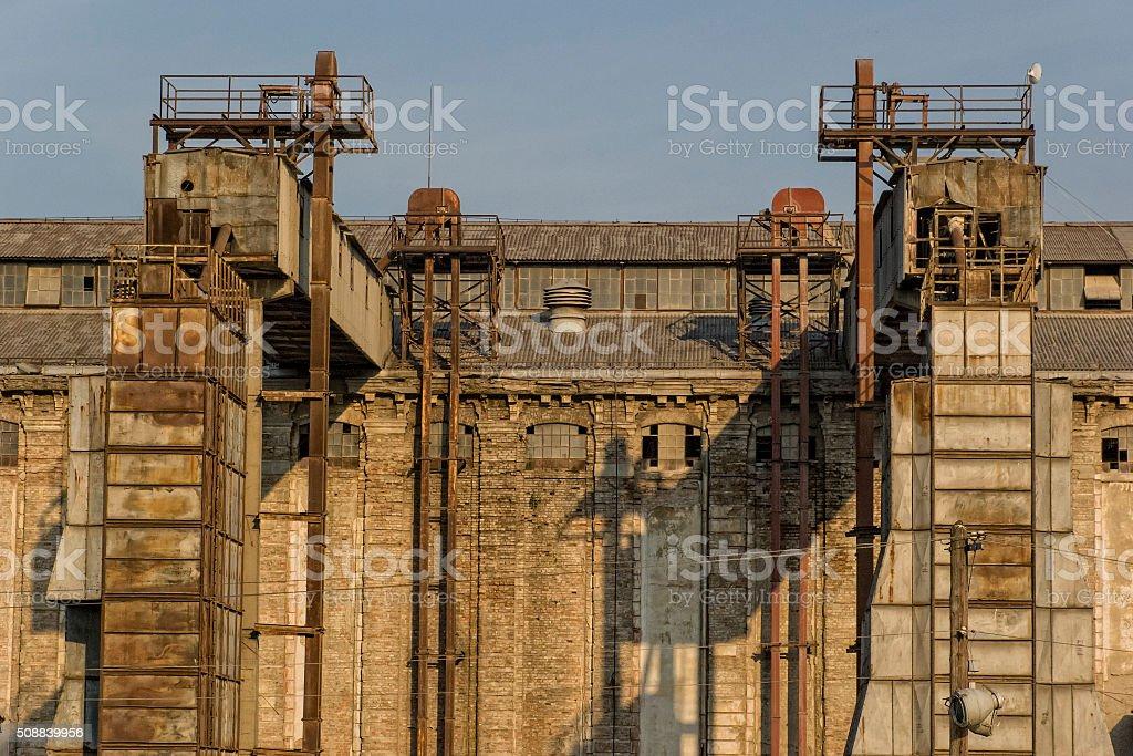 Industrial facade stock photo