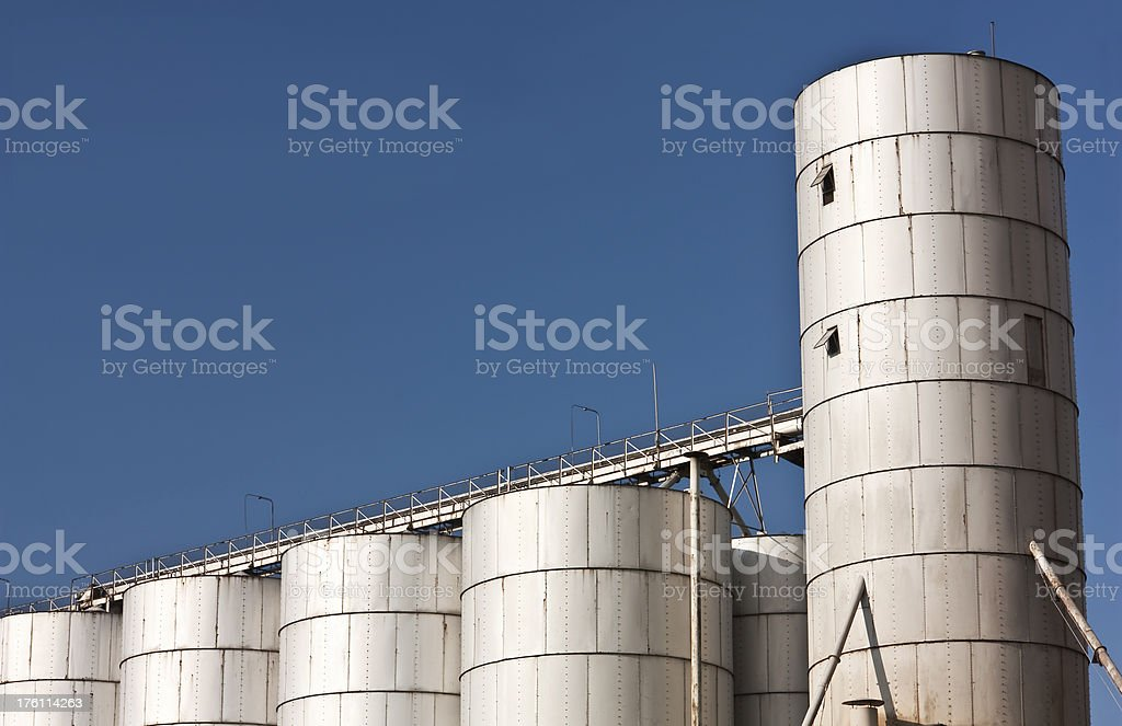 industrial factory, architecture of building exterior royalty-free stock photo