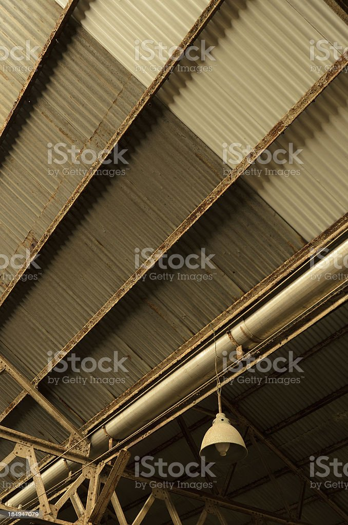 industrial factory ceiling royalty-free stock photo