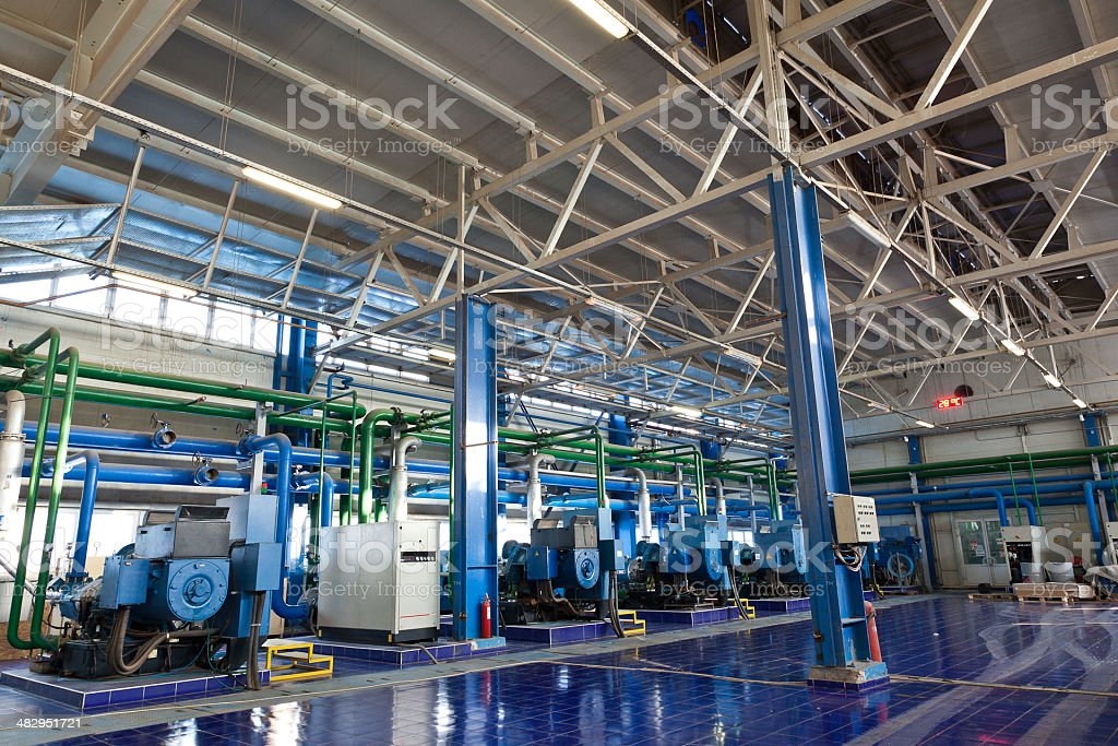 Industrial Factory Interior stock photo