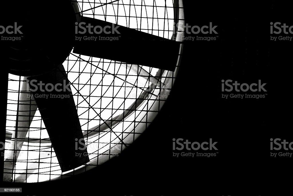 Industrial fan turbine stock photo