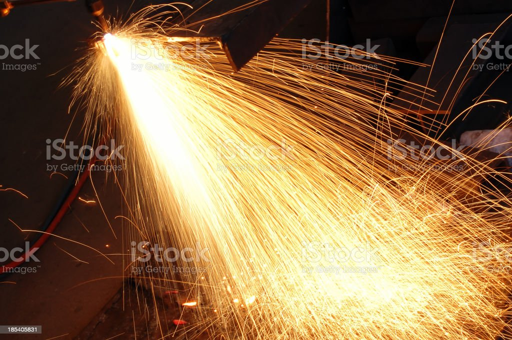 Industrial flare stock photo