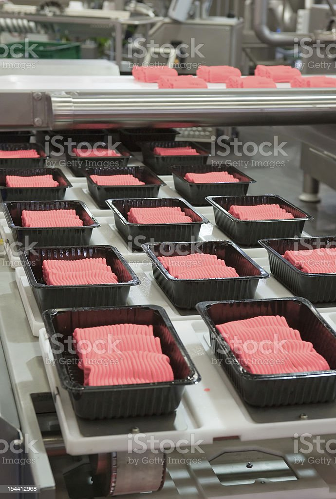 Industrial food production stock photo