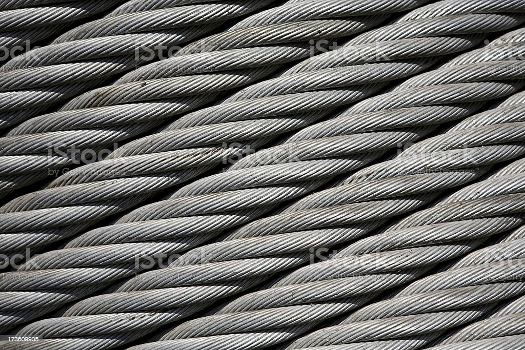 Industrial freight shipping cable royalty-free stock photo
