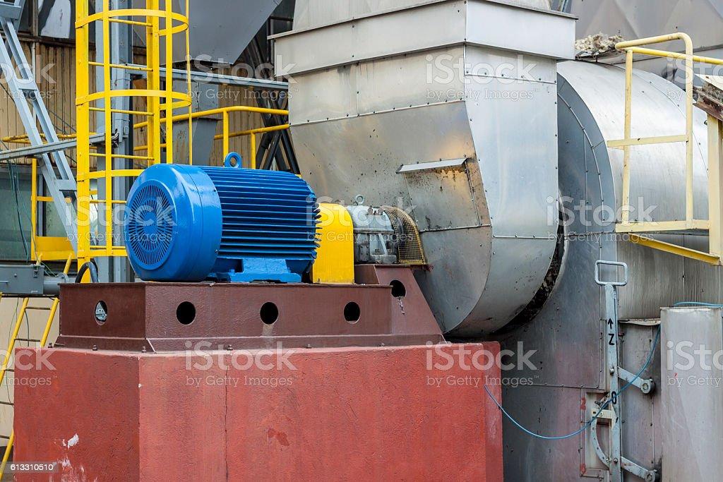 Industrial fumes ventilator - Poland. stock photo