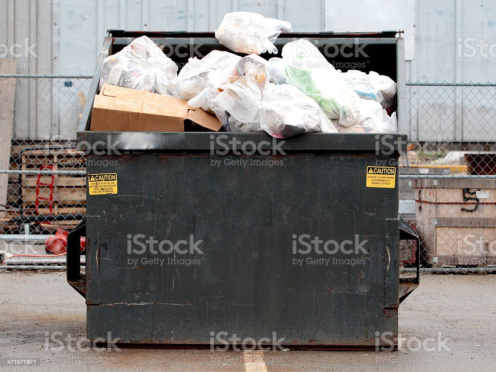Industrial Garbage Bin stock photo