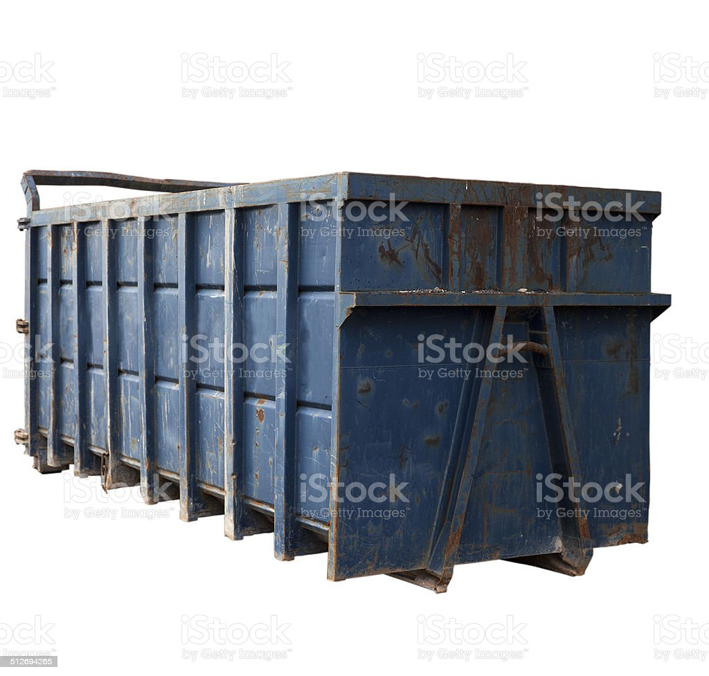 Industrial Garbage Bin with clipping path stock photo