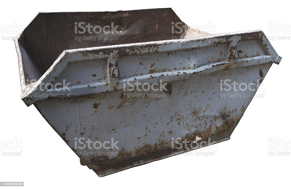 Cassone dei rifiuti con clipping path foto stock royalty-free