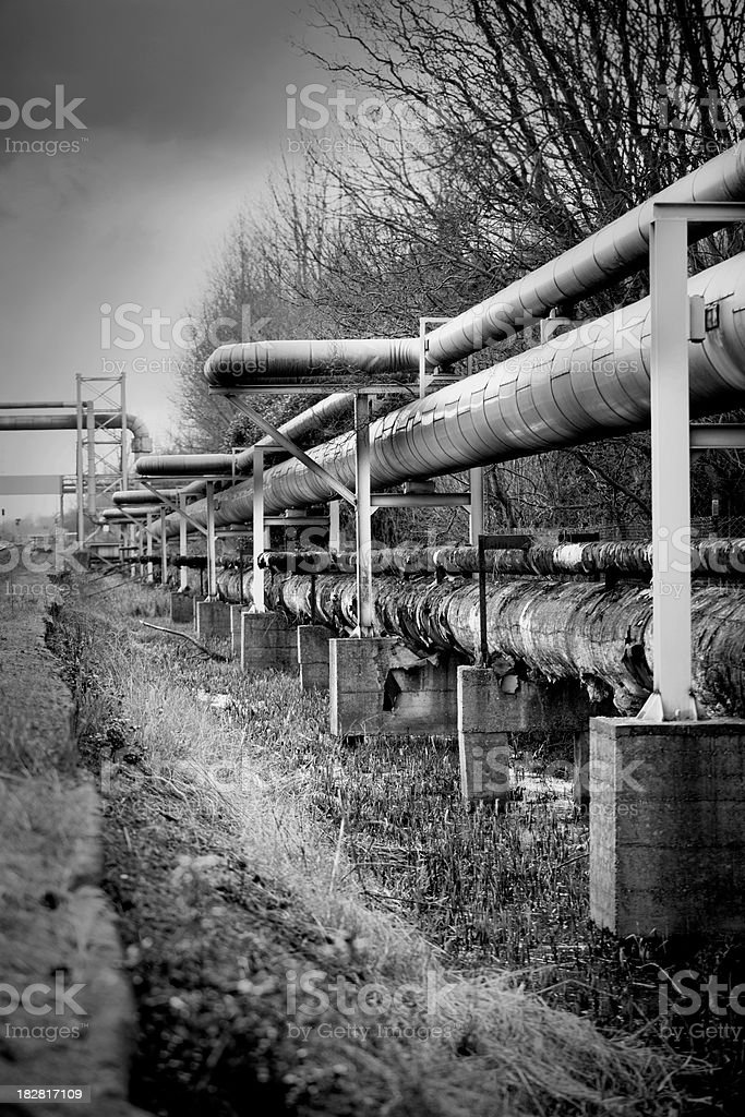 Industrial Gas Pipes royalty-free stock photo