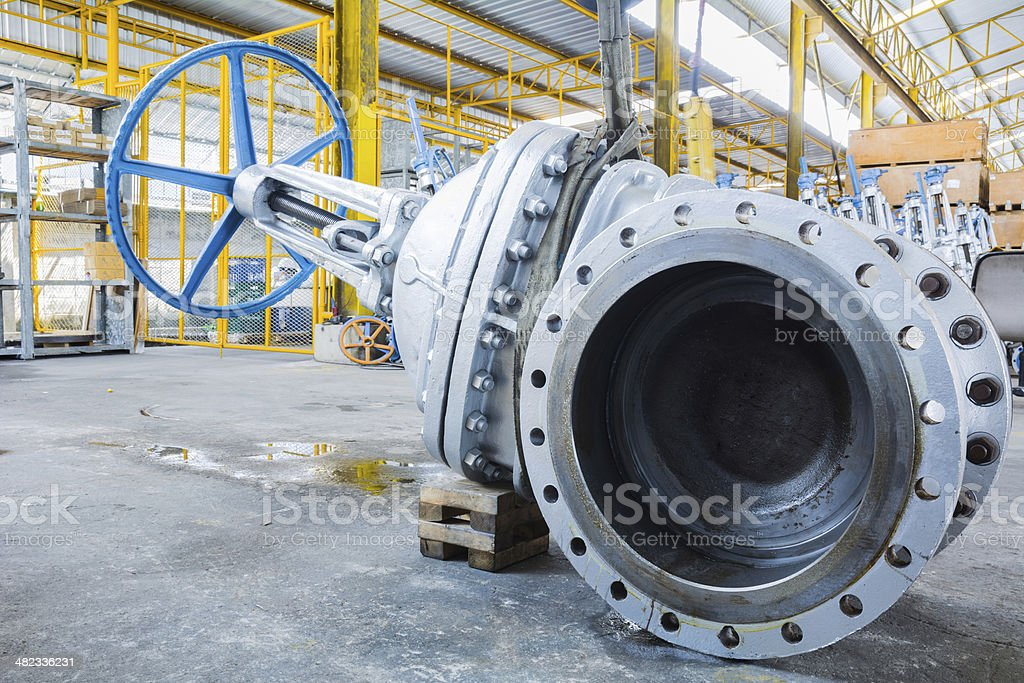 industrial gate valve stock photo