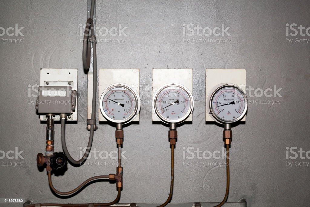 Industrial gauge - pressure meter stock photo