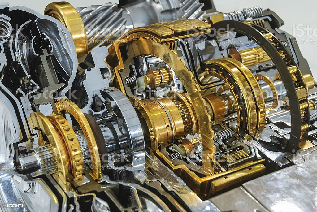 Industrial Gearbox Background stock photo