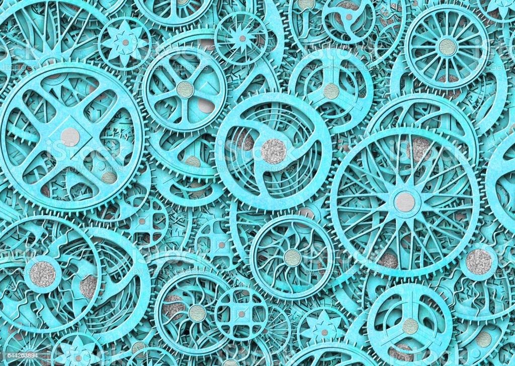 industrial gears background, texture grunge iron plates stock photo