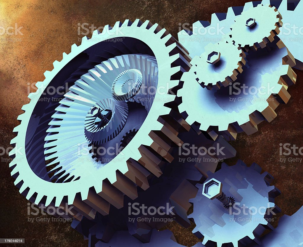 Industrial Gears royalty-free stock photo