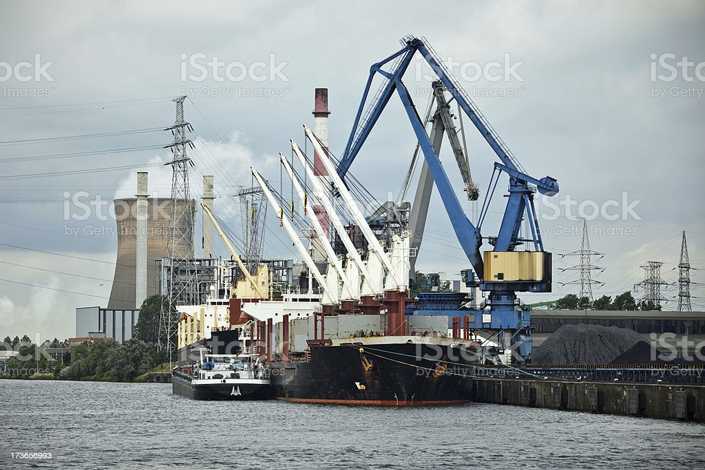 Industrial harbor royalty-free stock photo