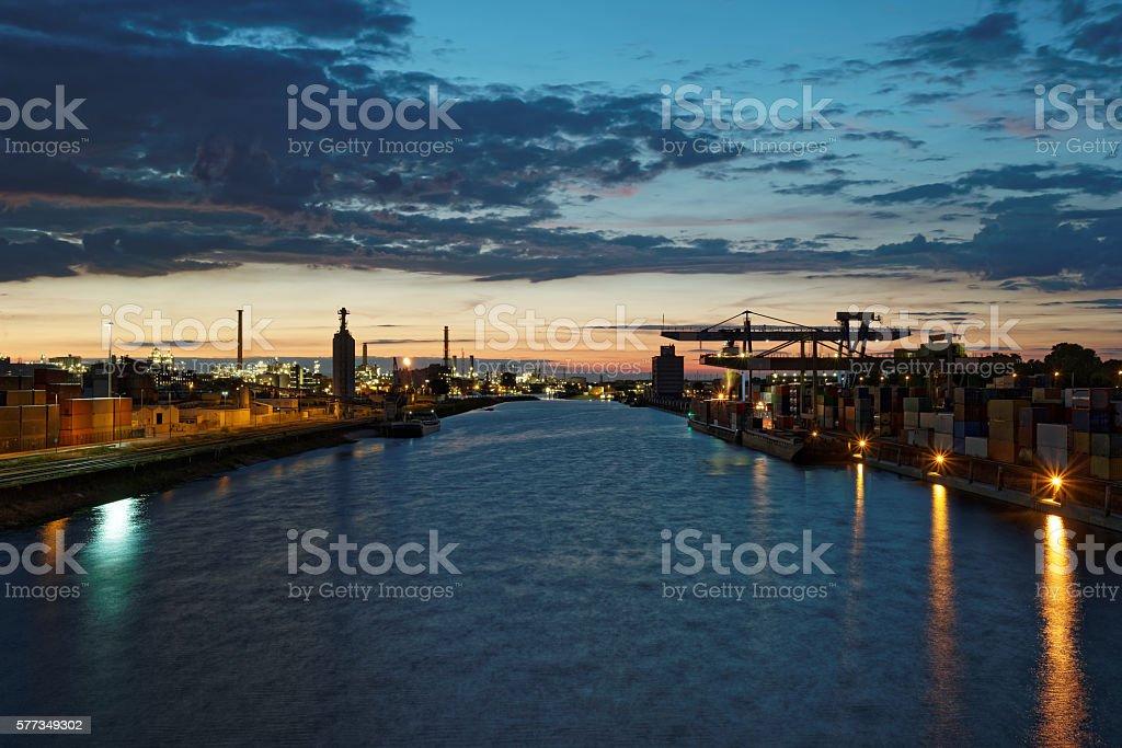 Industrial Harbor stock photo