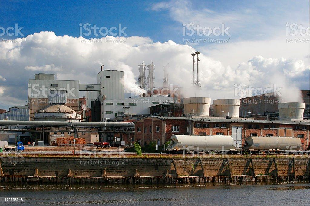 Industrial Harbour stock photo