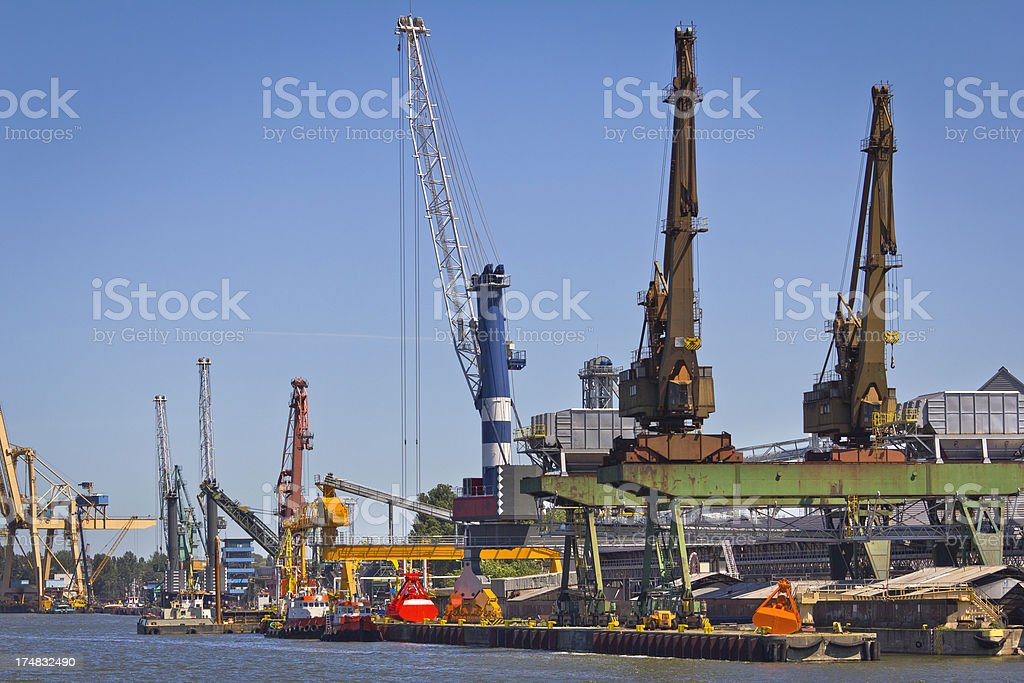 Industrial harbour royalty-free stock photo