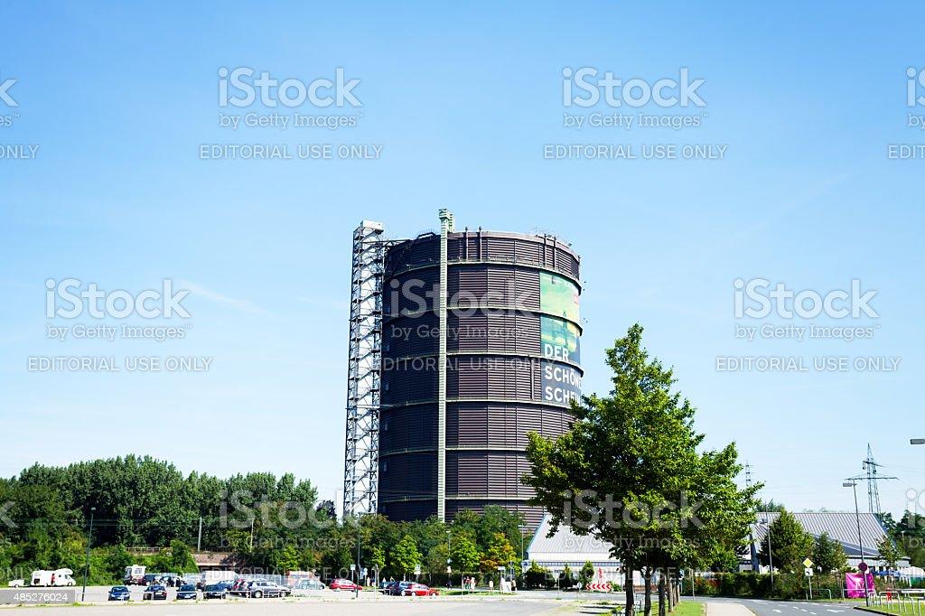 Industrial heritage Gasometer Oberhausen stock photo