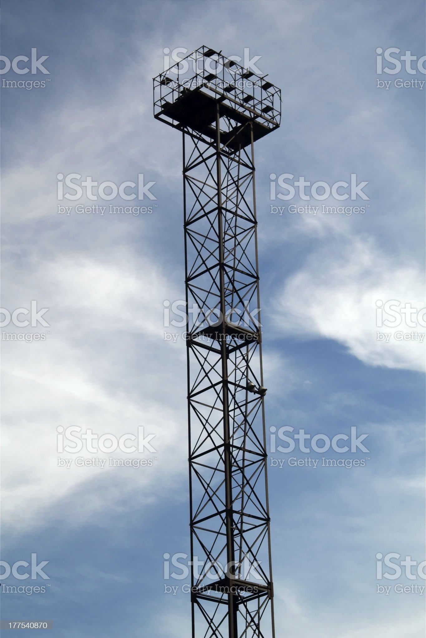 Industrial high-altitude platform on blue sky background royalty-free stock photo