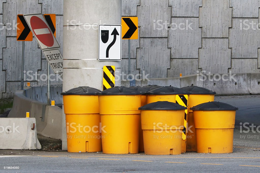 Industrial Highway Obstruction stock photo