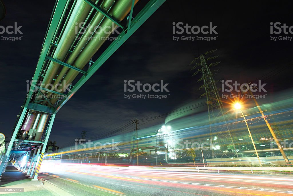 industrial highway royalty-free stock photo