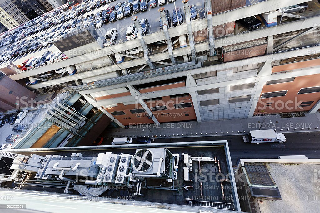 Industrial HVAC Air-Conditioner and Port Authority stock photo