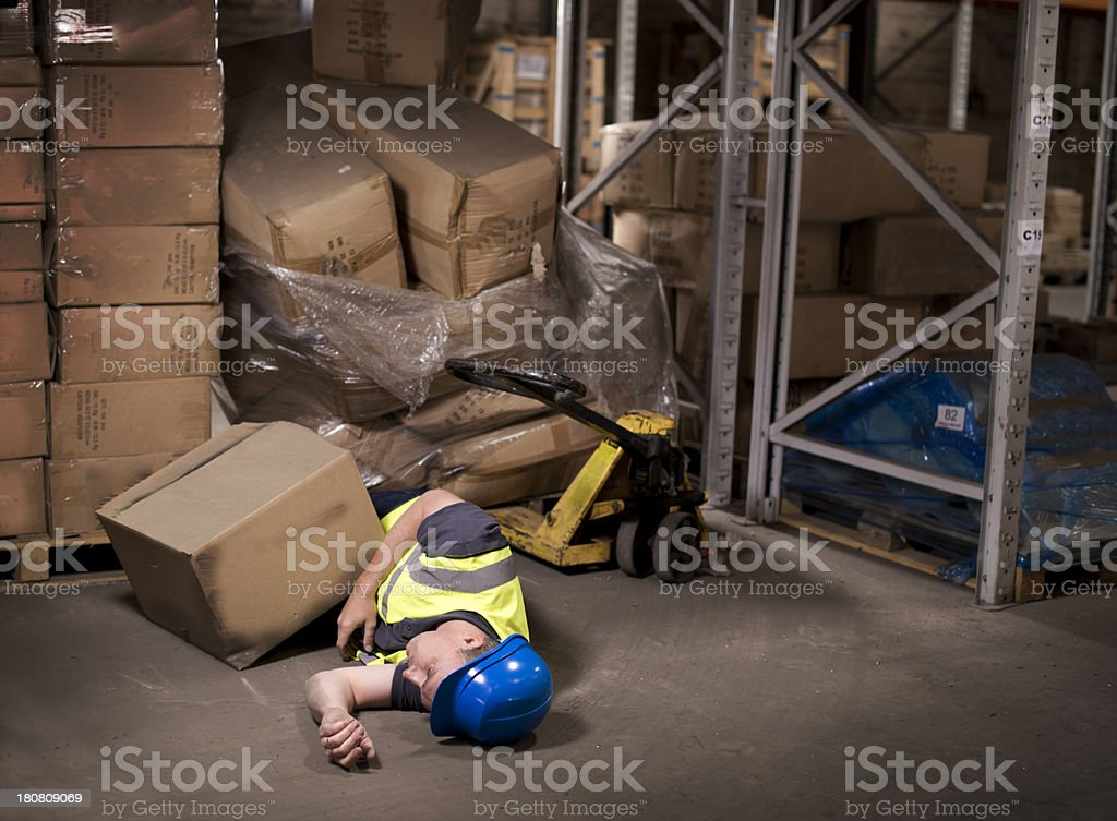 industrial injury stock photo